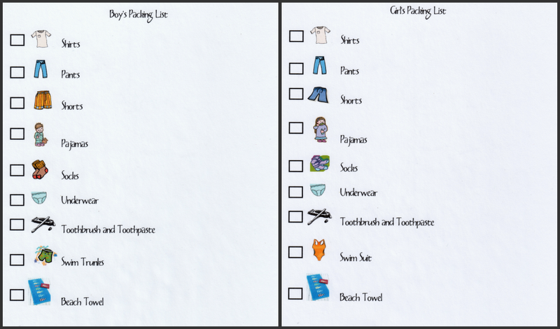 Youngsters DIY Packing List How Cool Is This Even Works For Non
