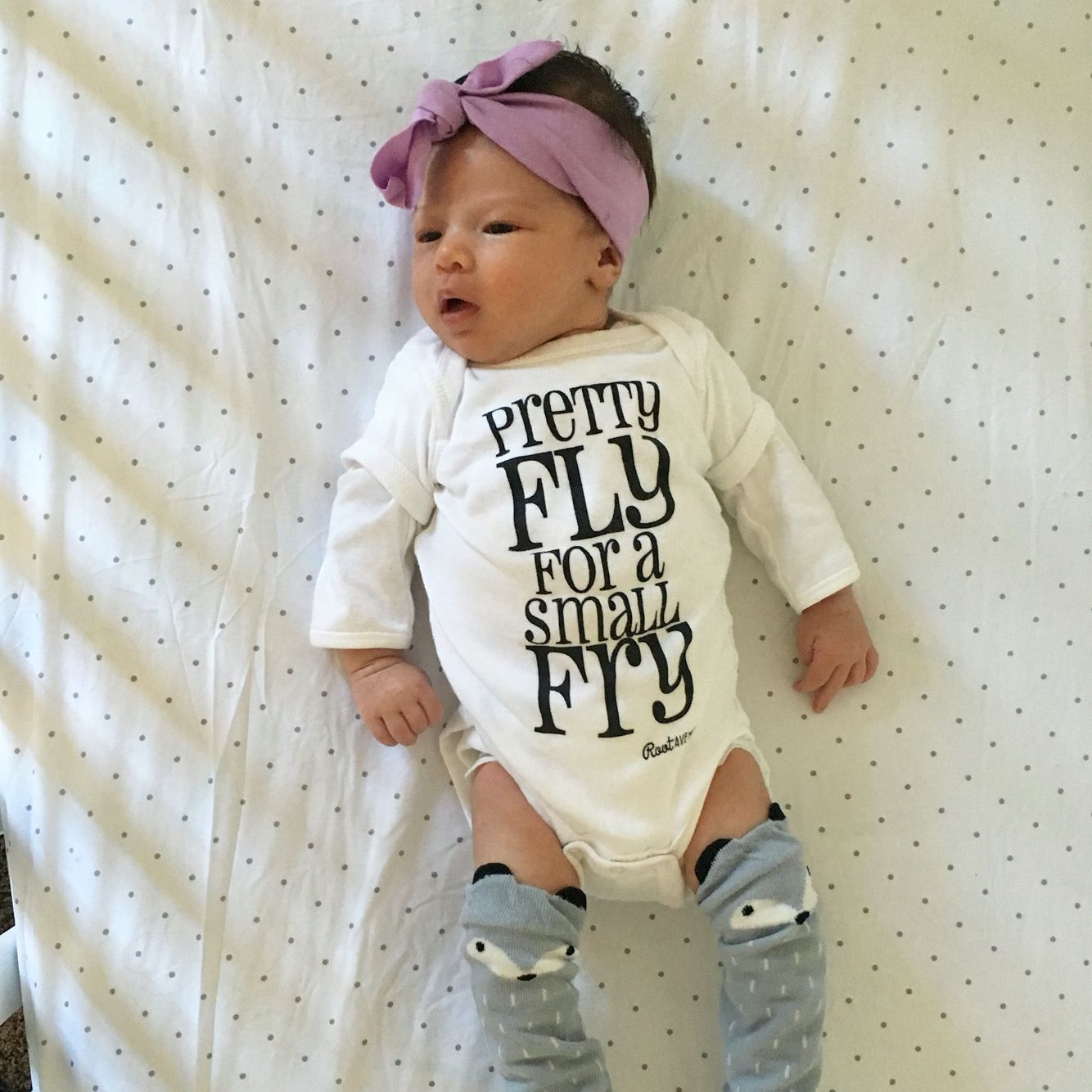 a9e0973c5b34 Pretty fly for a small fry! Onesie for baby boy or girl.
