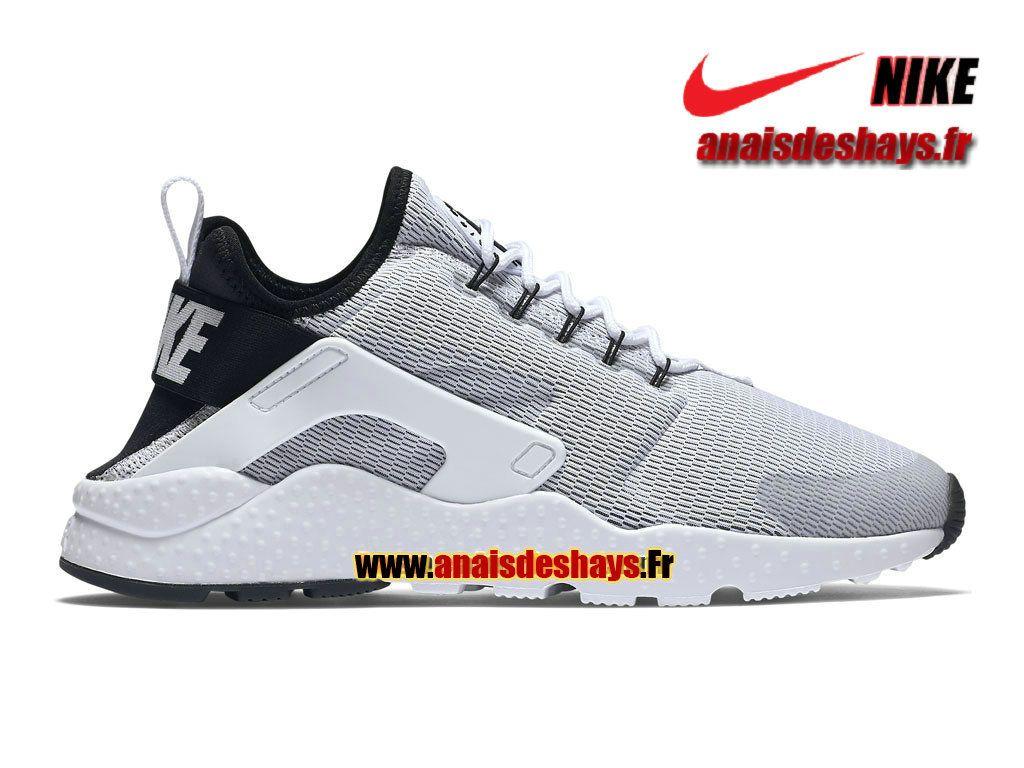 best service 7f215 abb08 Boutique Officiel Nike Air Huarache Ultra Homme Blanc Noir Blanc 819151-100H
