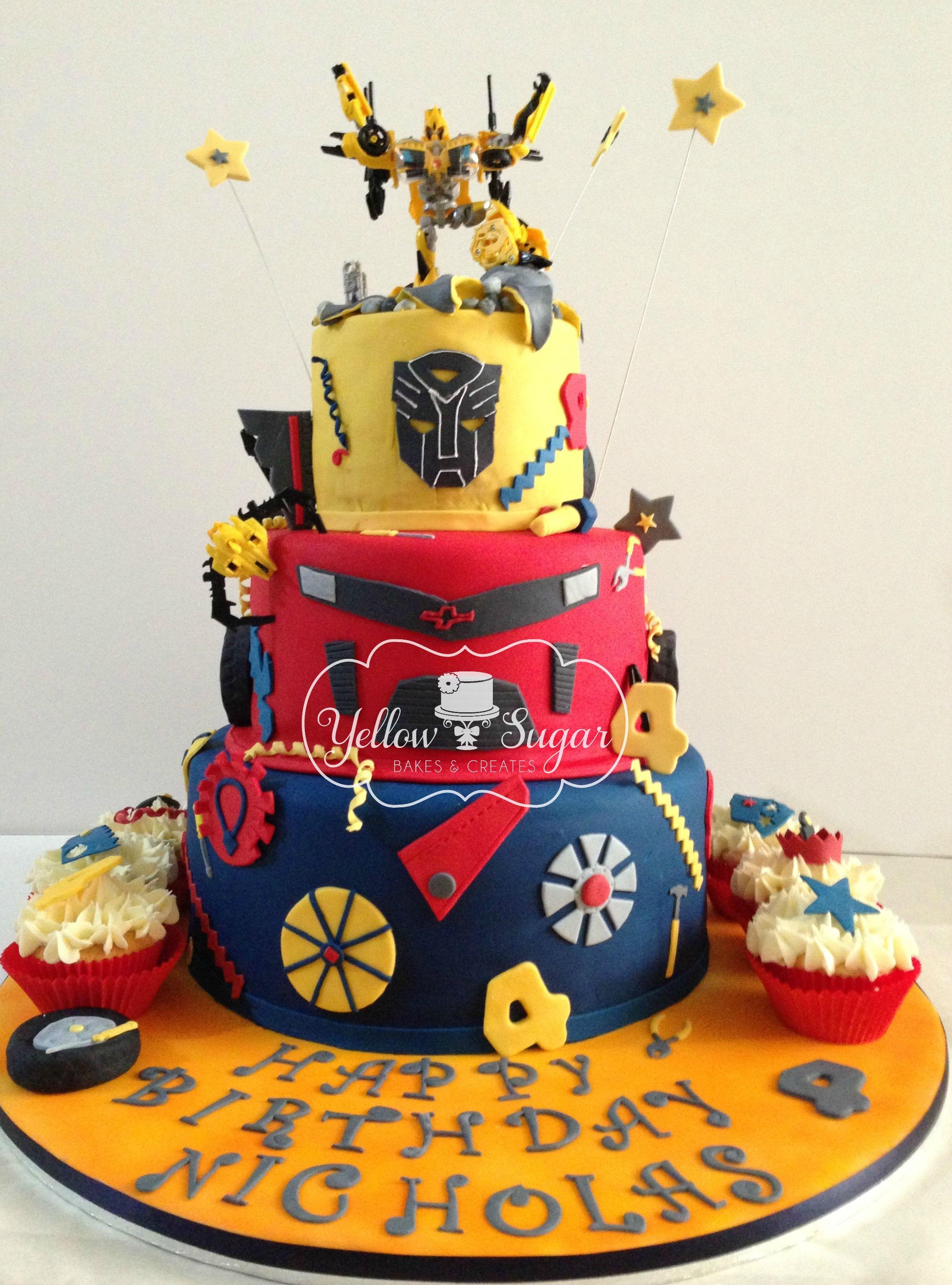 Transformer Birthday Cake Birthday Cake Ideas Pinterest