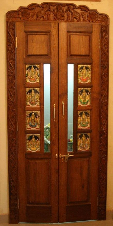 construction pooja room doo - Doors Design For Home