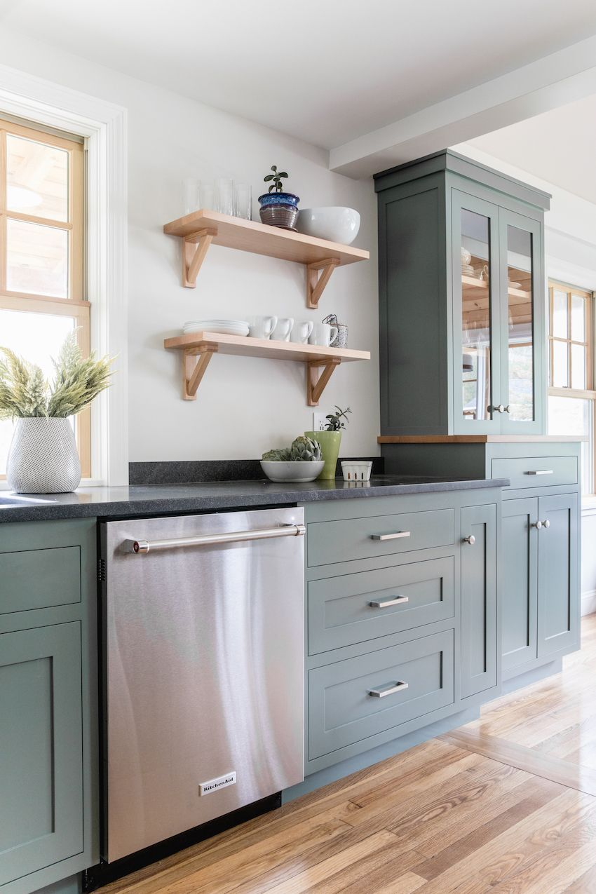 Before After A Dated Kitchen Rebuilt With Impeccable Craftsmanship Design Sponge Cabinet Colors Modern Kitchen Design Shaker Style Kitchens