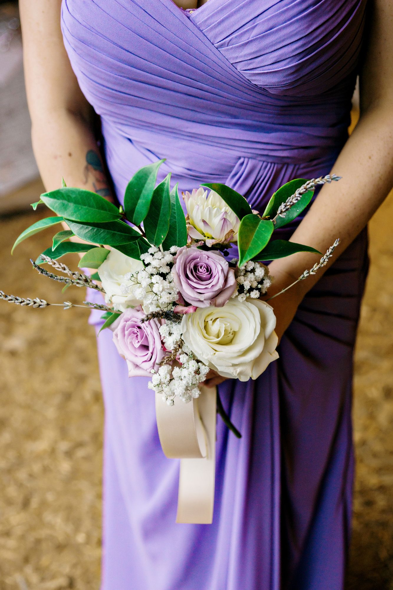 #purple #bridesmaid #dress #bouquet @weddingchicks
