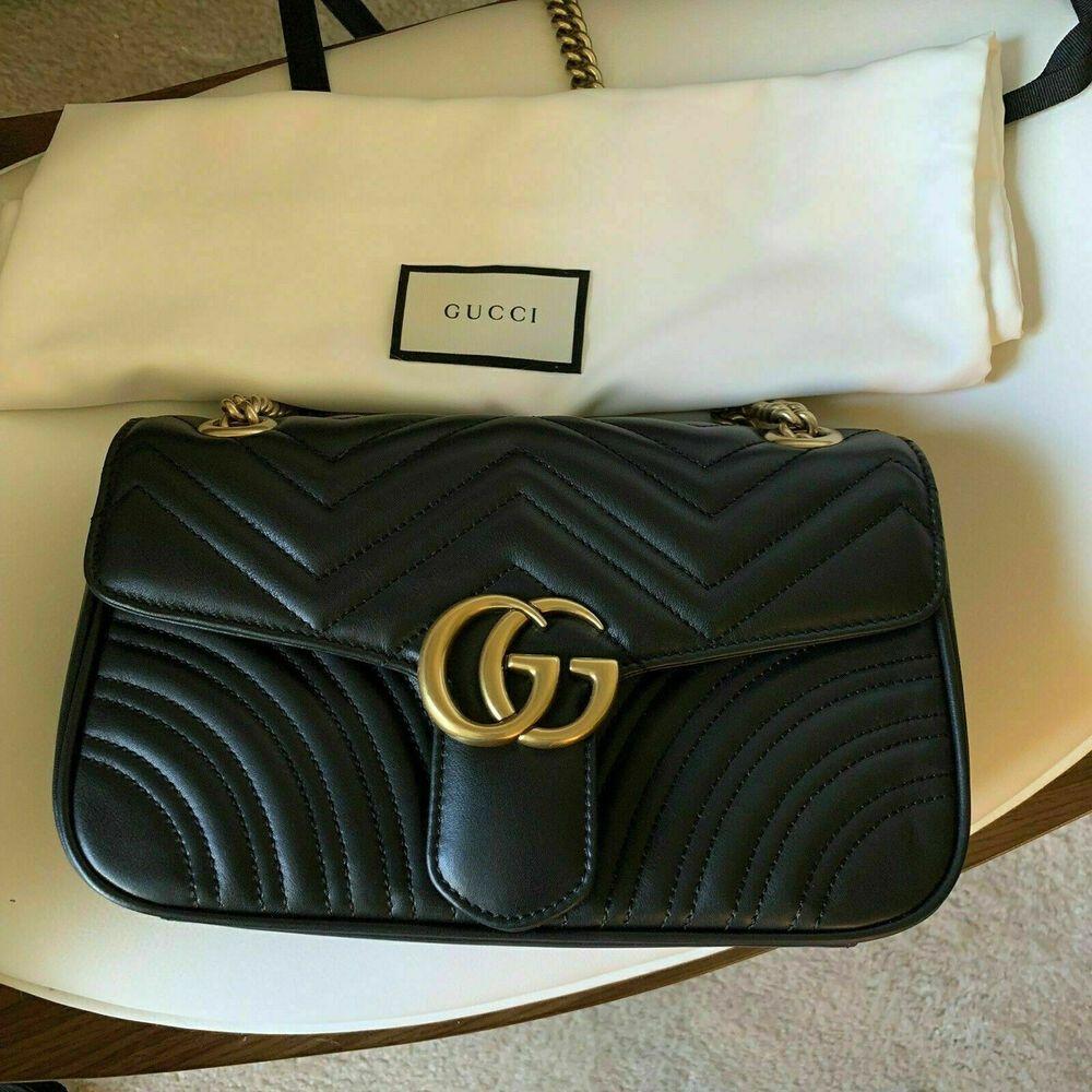 c2984aee0b69 Black Gucci Marmont Bag Medium #fashion #clothing #shoes #accessories  #womensbagshandbags (ebay link)