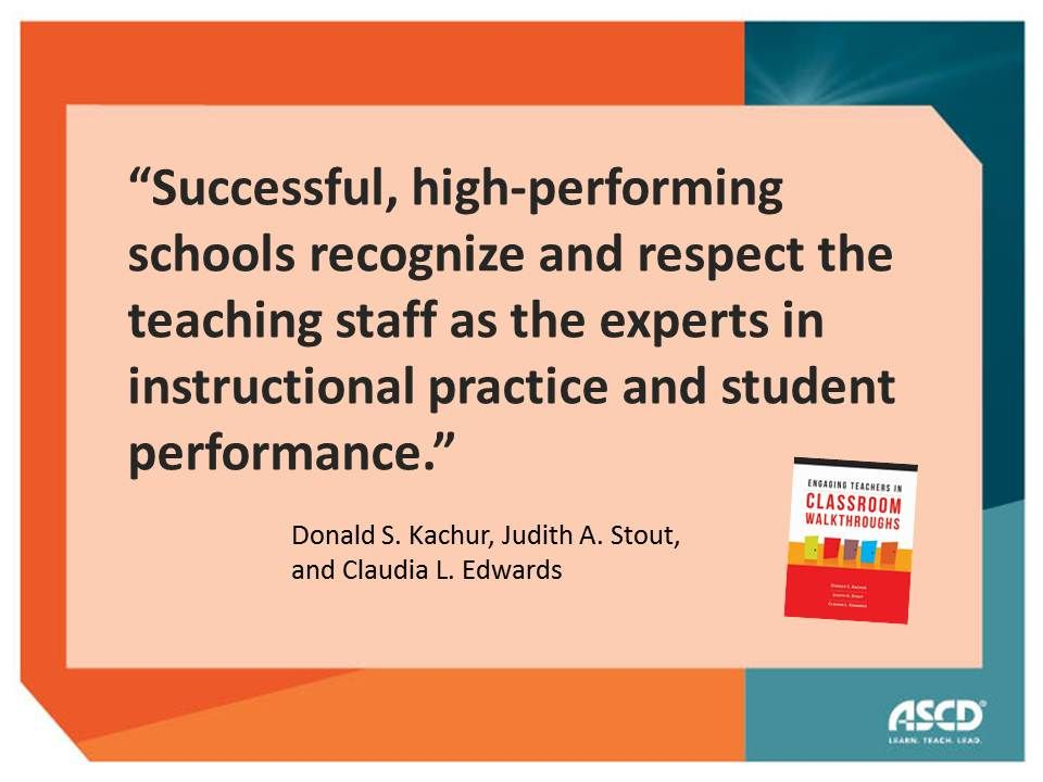 Quotation From Engaging Teachers In Classroom Walkthroughs Learn