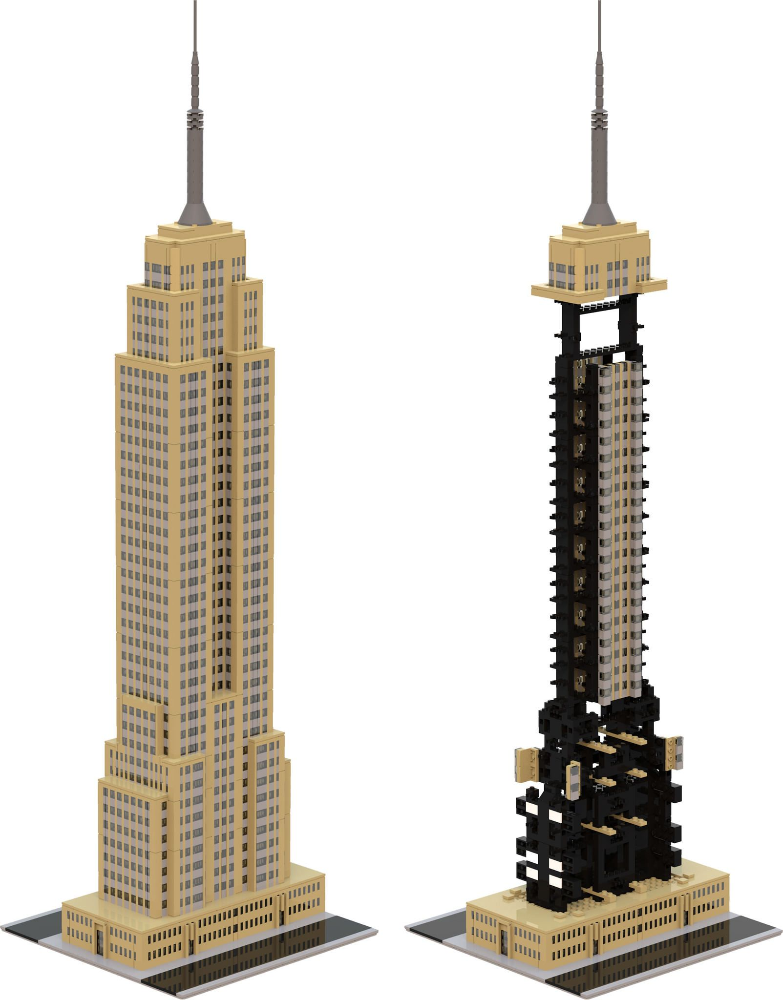 empire state building lego architecture pinterest lego