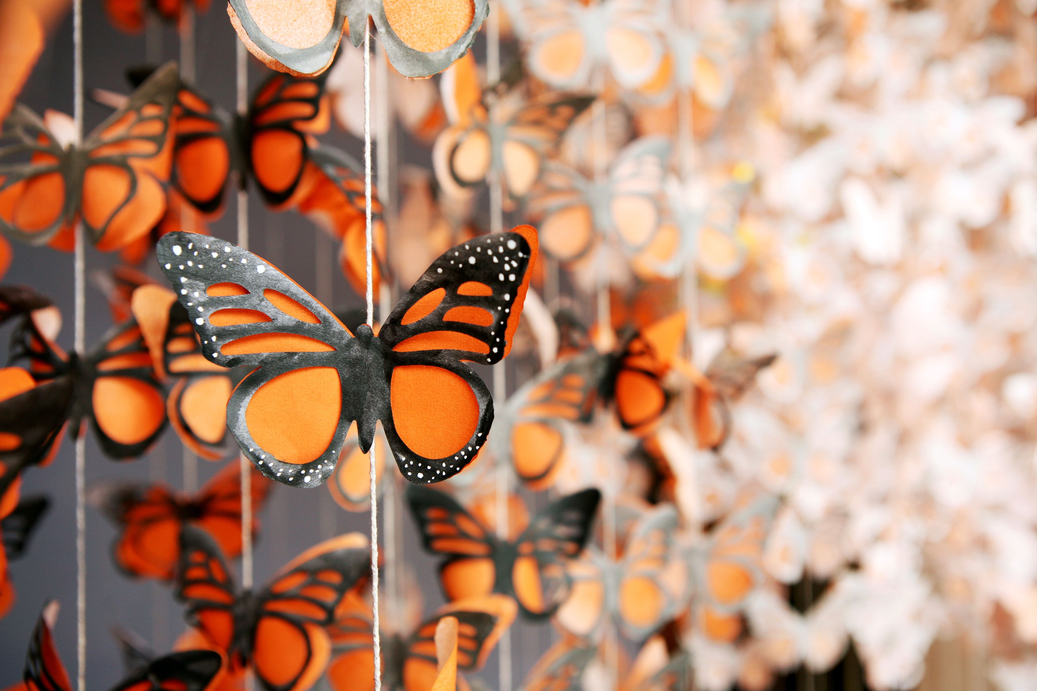 Butterfly Garland With Images Butterfly Garland Butterfly Art Monarch Butterfly