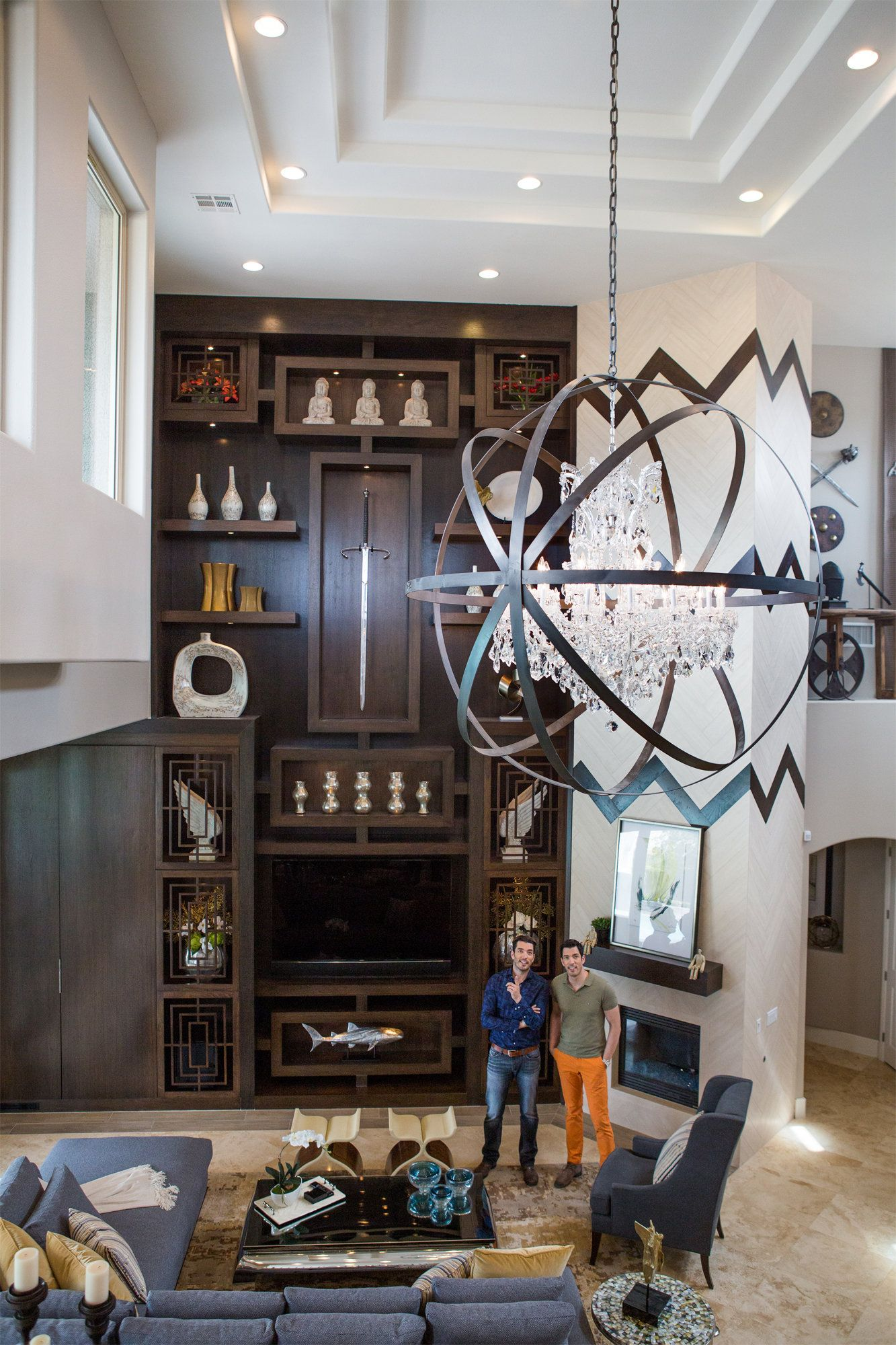 What Does The Property Brothers House Look Like Are You Kidding Look At That Ceiling At Home In Vegas With Jonathan And Drew Scott Of The Property