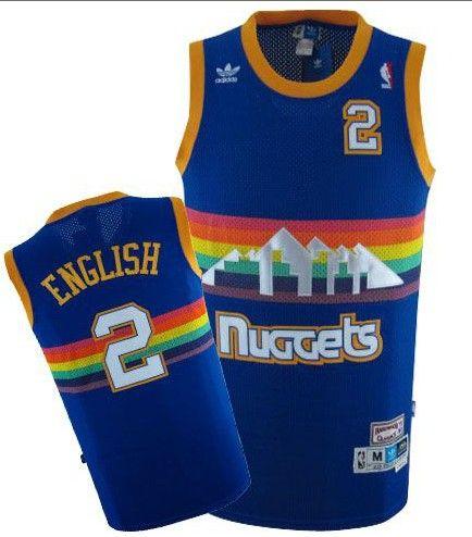 Adidas NBA Denver Nuggets 2 Alex English Swingman Throwback Blue Jersey