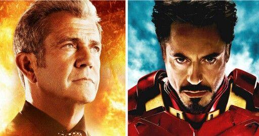 Mel Gibson y Robert Downey Jr.