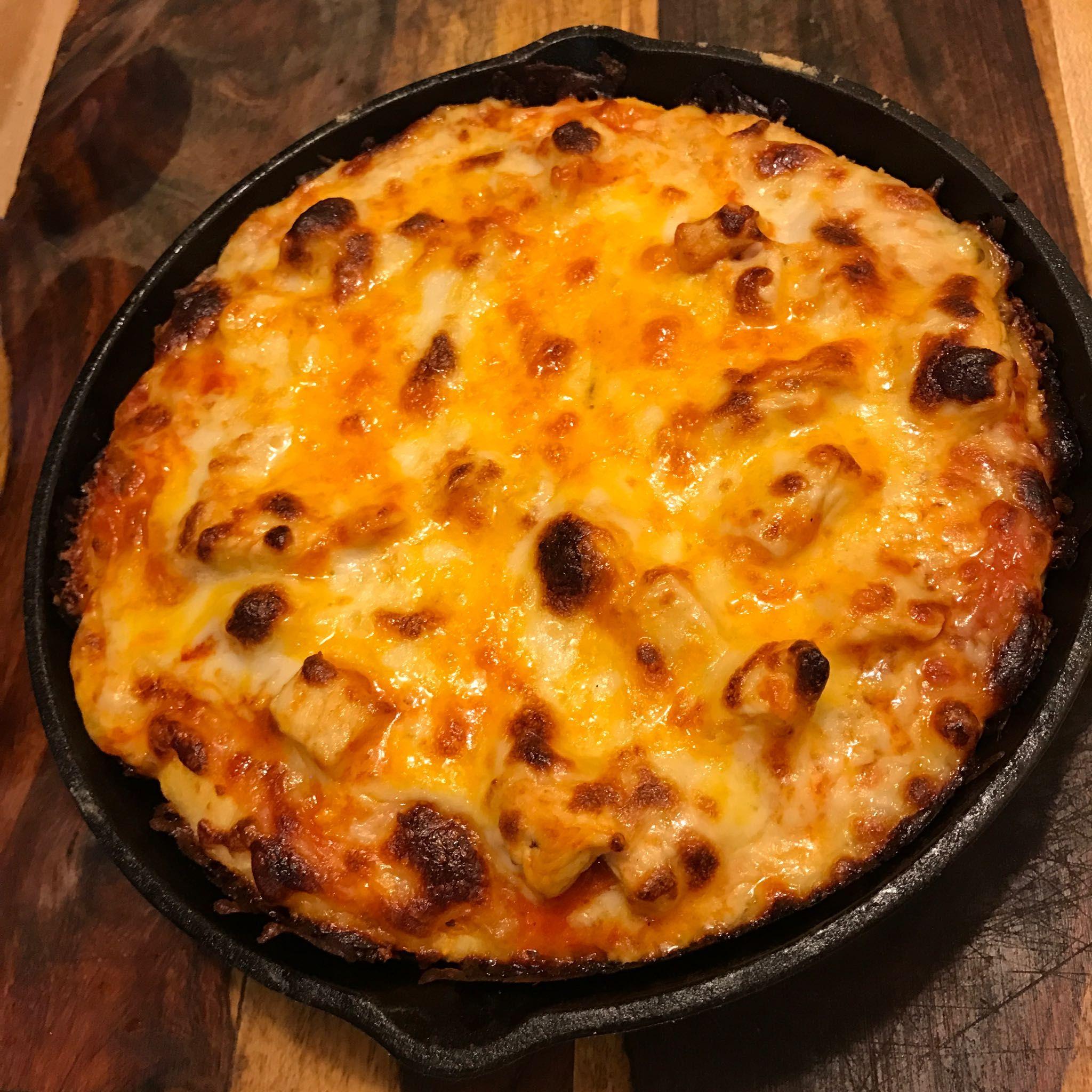 Cast Iron Buffalo Chicken Pizza Cast iron recipes, Cast