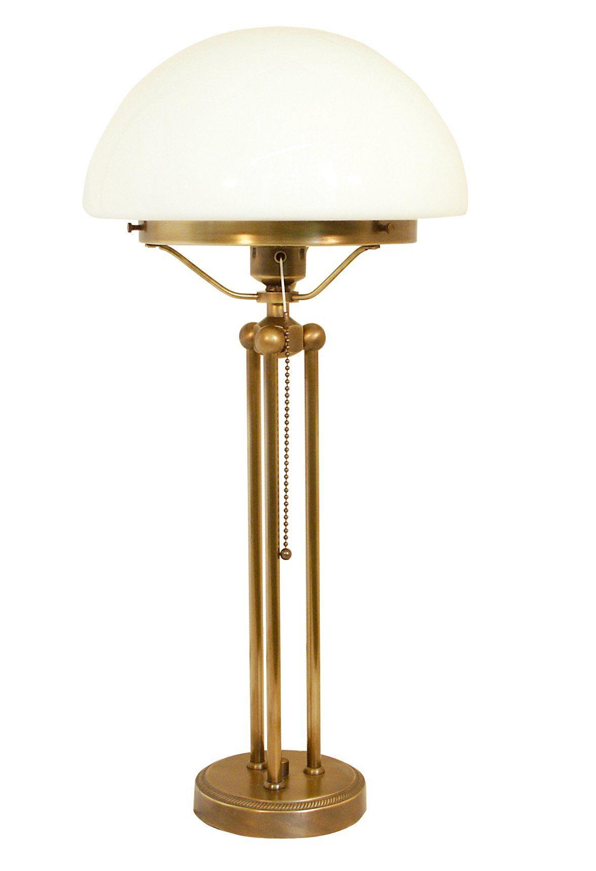 Vintage Brass Mushroom Table Lamp
