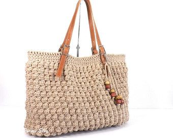 d1630c1448 ***INSPIRED BY GERARD DAREL 24 HR DUBLIN HANDBAG*** >>This bag is my  version of Gerard Darel Dublin Bag<< DESCRIPTION 100% Hand crocheted handbag.  A