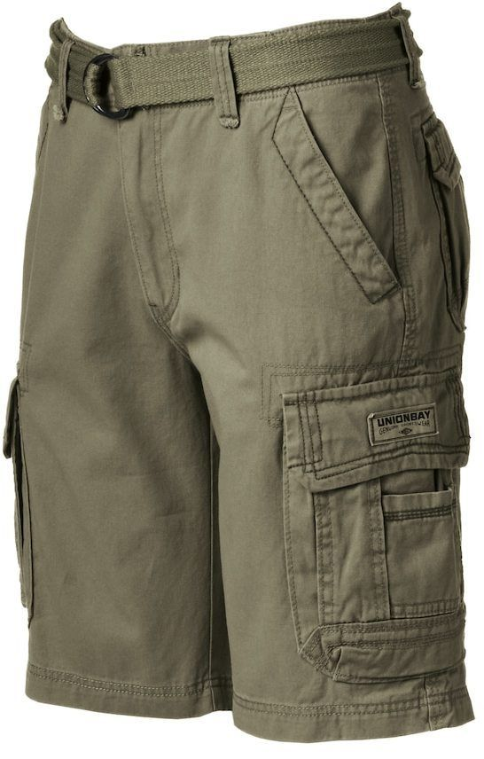 a7ee8faf10 UNIONBAY Men's Survivor Belted Cargo Shorts | Products | Shorts ...