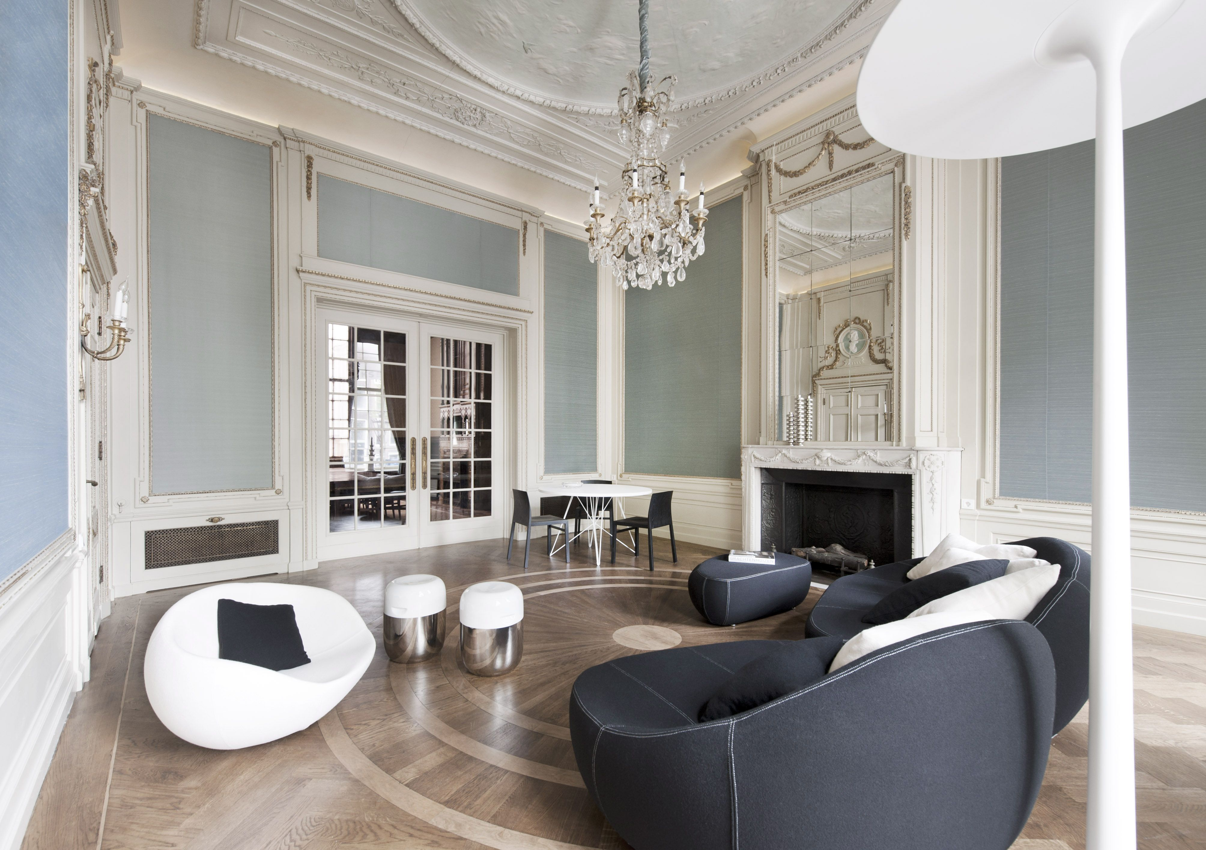 Interior Design Monumental Reception Rooms For REPLAY Office And Showrooms Herengracht Amsterdam Furnishing By