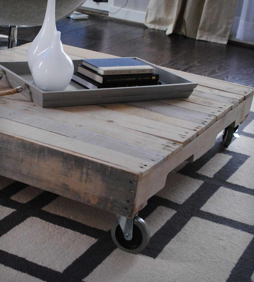 reclaimed wood coffee table with casters | reclaimed wood coffee