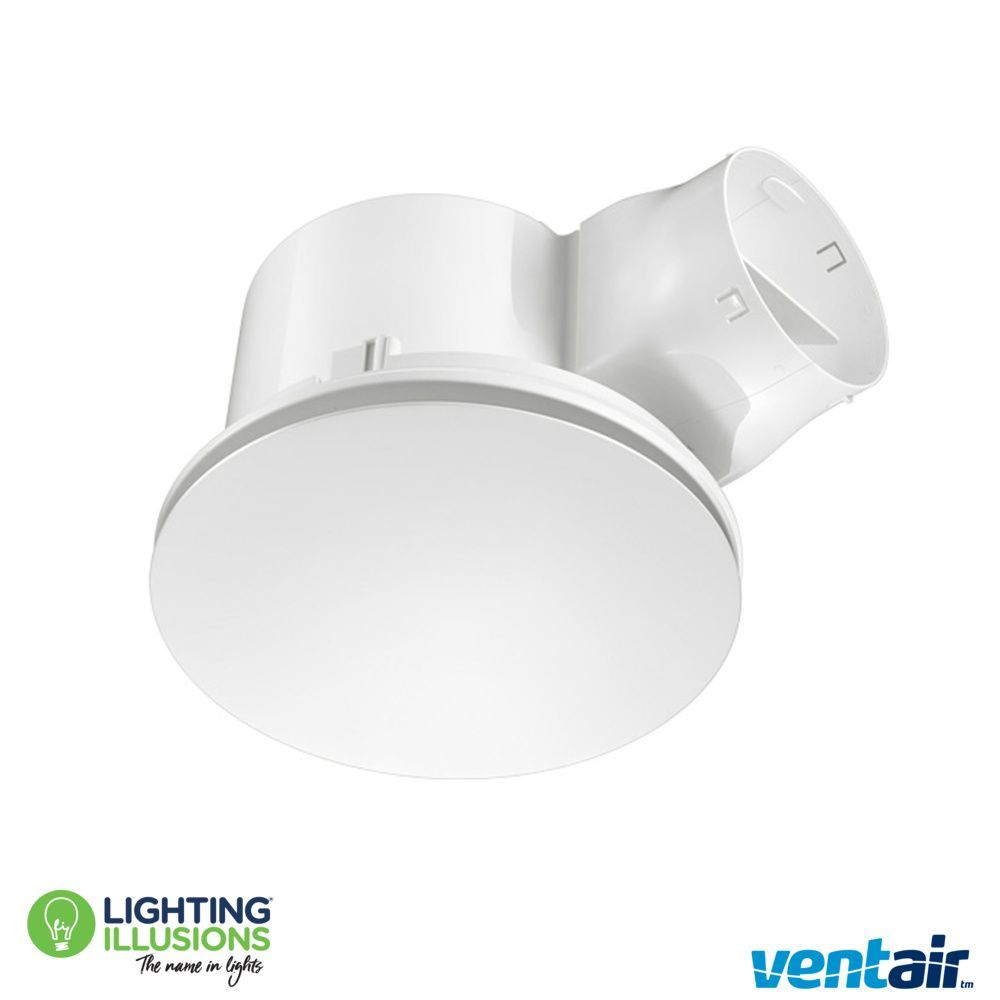 White Ventair Round Airbus 300 Pro-V Bathroom Exhaust Fan ...