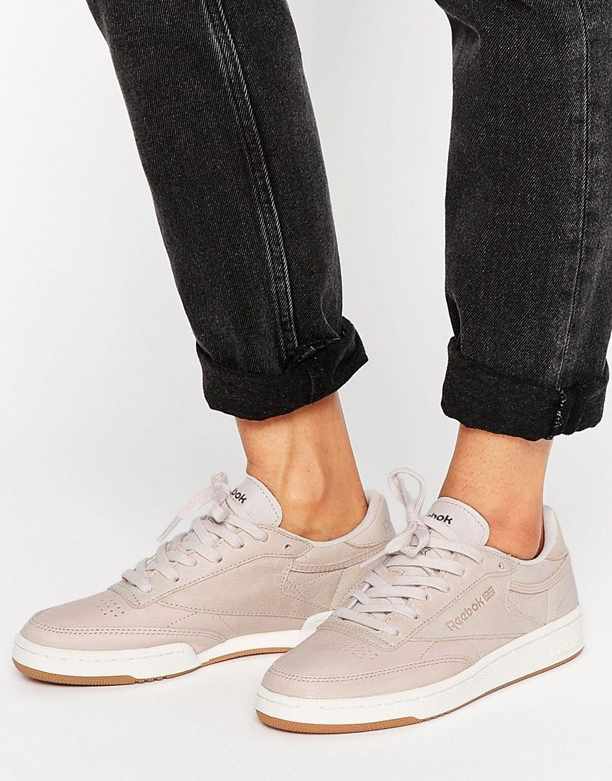 Shop Reebok Club C Trainers In Blush & Rose Gold at ASOS.