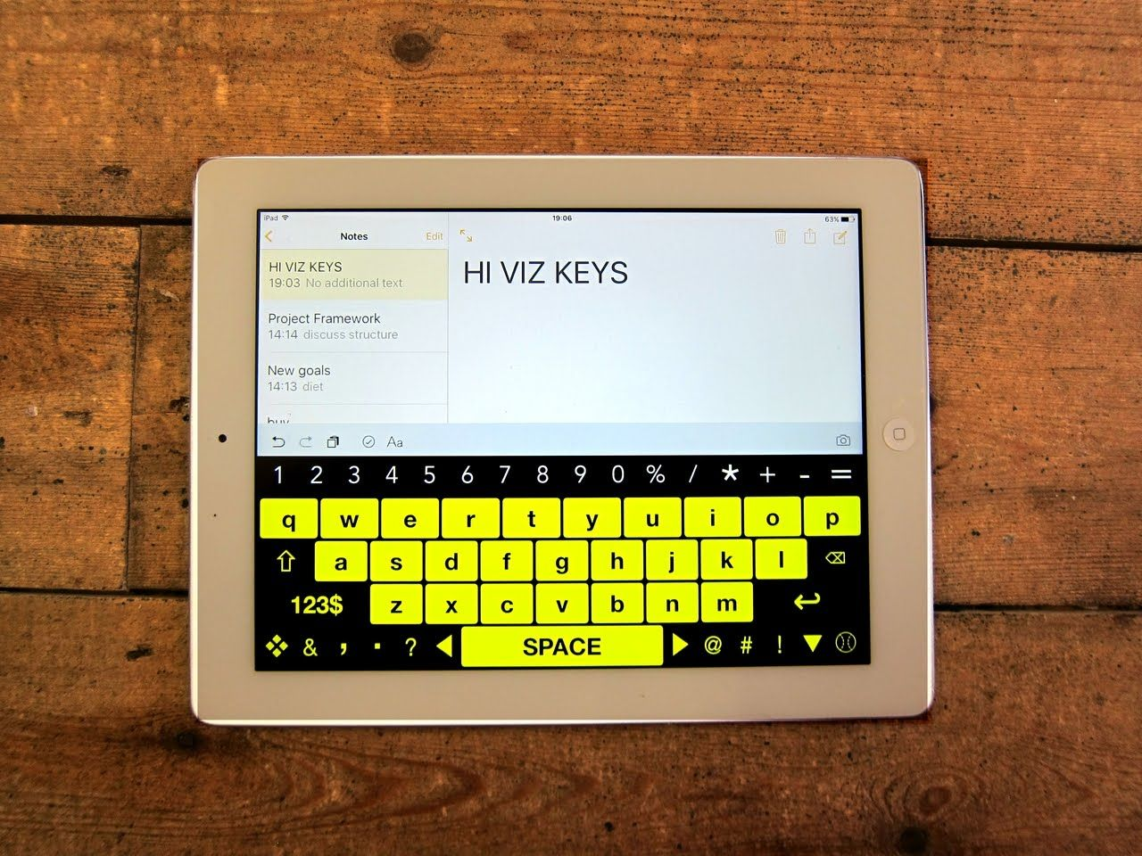 High Visibility Keyboard Ipad App For Visual Impairment And Low Vision Ipad Apps Low Vision Ipad