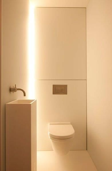 Toilet indirect licht own house interior inspiration for Indirecte verlichting toilet