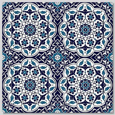 Ceramic Turkish Wall Tiles: Floral Dream