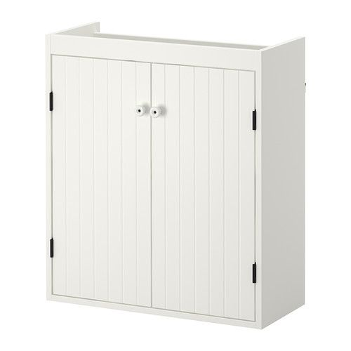 Silvern Sink Cabinet With 2 Doors White Small Bathroom Shallow