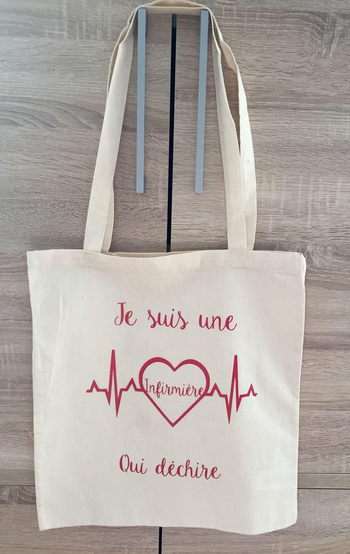 Tote Bag je suis une infirmière qui déchire : Autres sacs ...