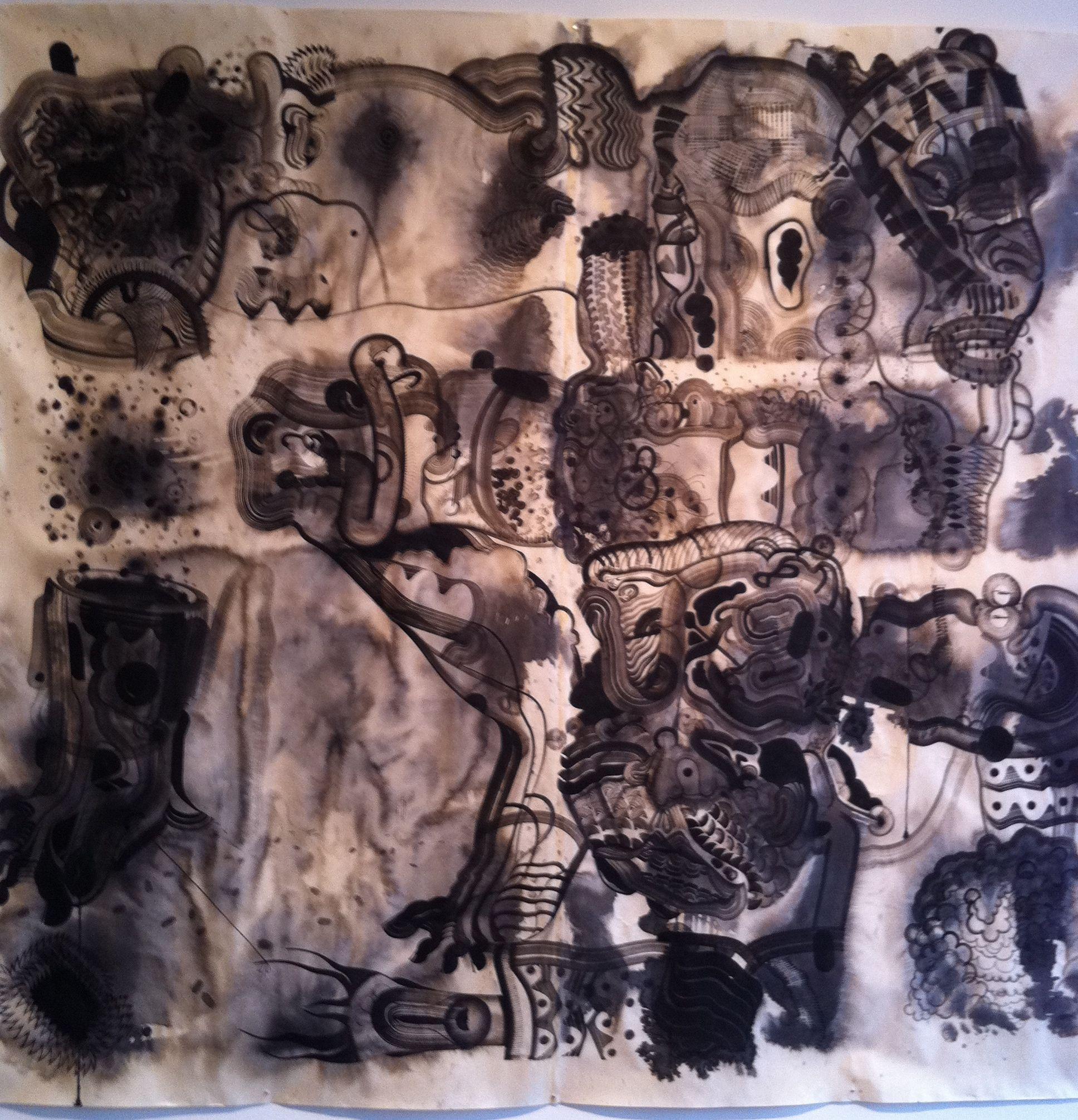 Robert Hardgrave 10'x 10' ink drawing, 2011 (?)