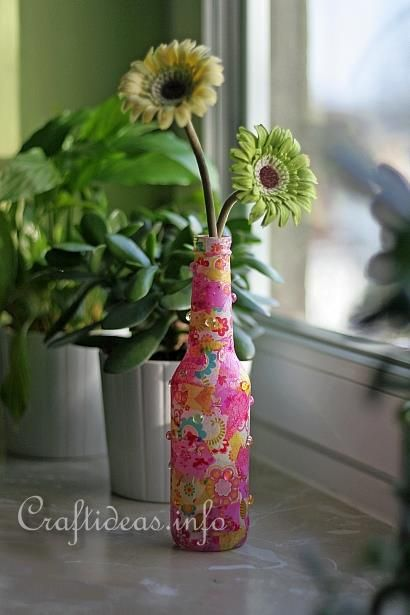 Recycling craft decopatch soda bottle altered things - Recycled soda bottle crafts ...