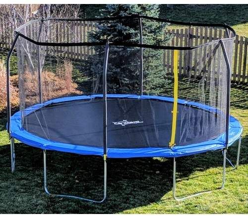 Airzone Play Backyard Jump 15 Round Trampoline With Safety Enclosure Shopping Deals Kids Toys Backyard Trampoline Trampoline Backyard Safety