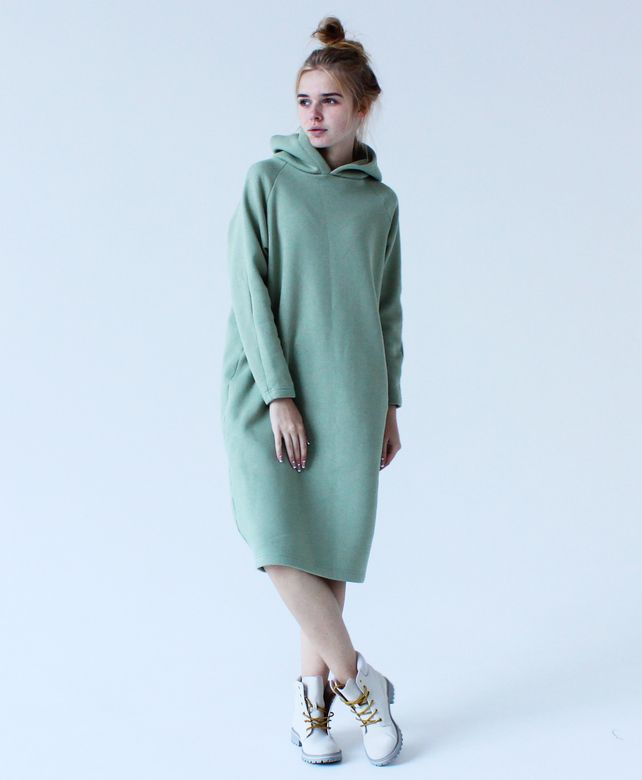 d8763e35d2e Спортивное зимнее платье maybe ... цвета мяты