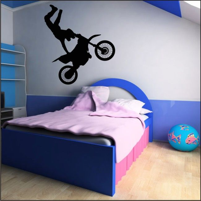 bmx bike boys push bike sport wall stickers art decal childrens