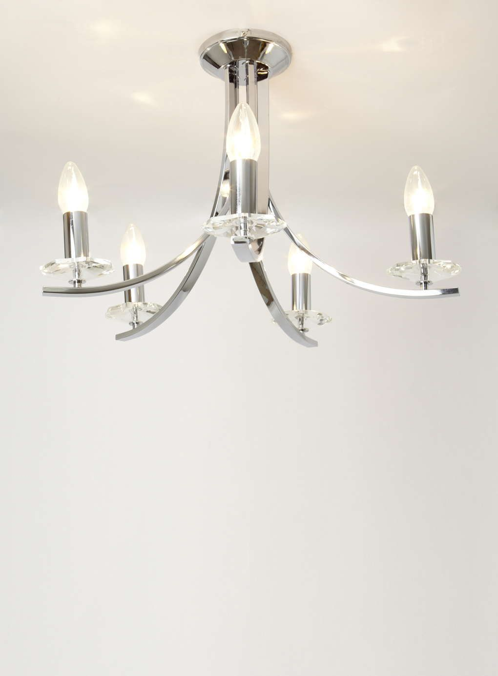 Chrome malone Chandelier - Ceiling Lights - Home, Lighting ...