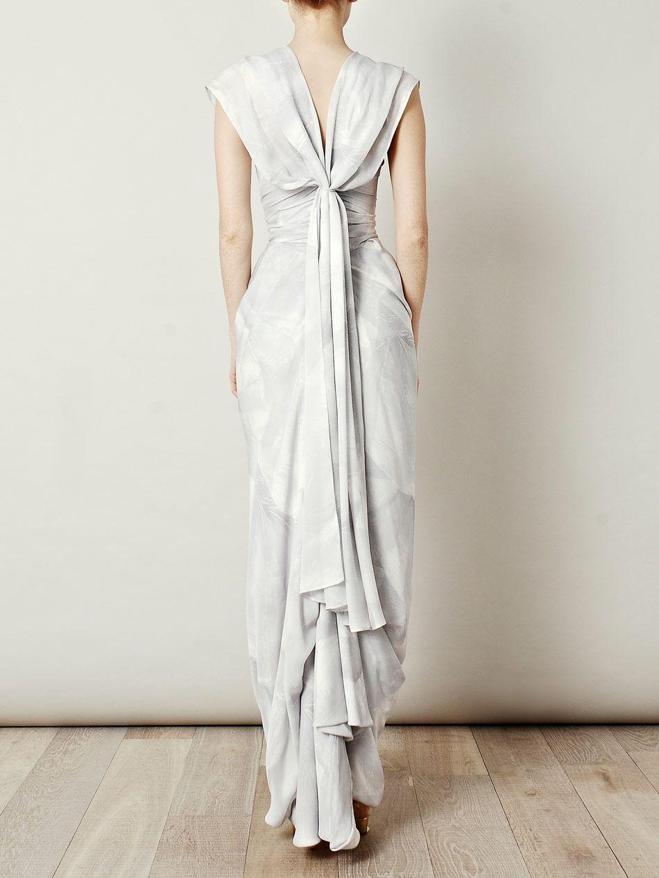 Fan Print Ball Tie Dress Vivienne Westwood Gold Label Wedding