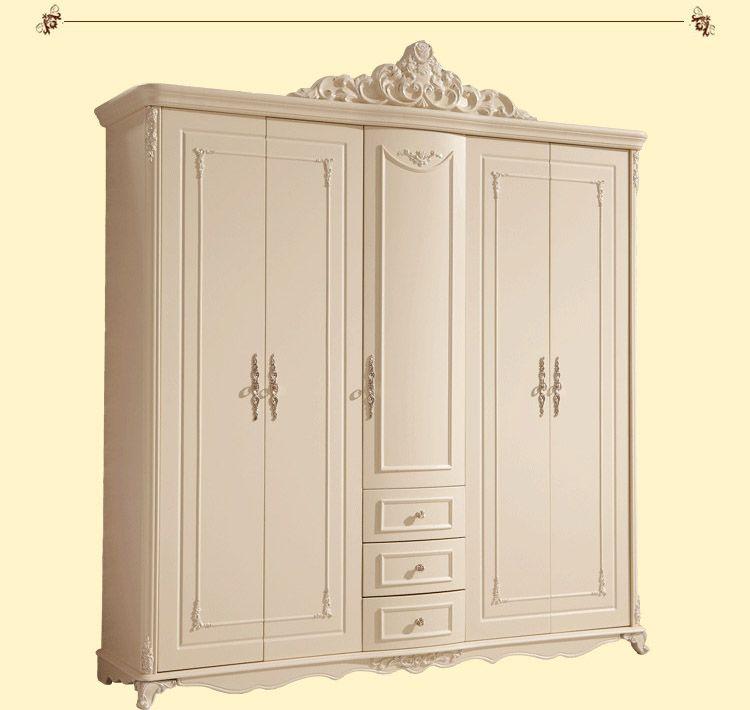 Nueva madera maciza muebles de dormitorio dresser el cinco puertas ...