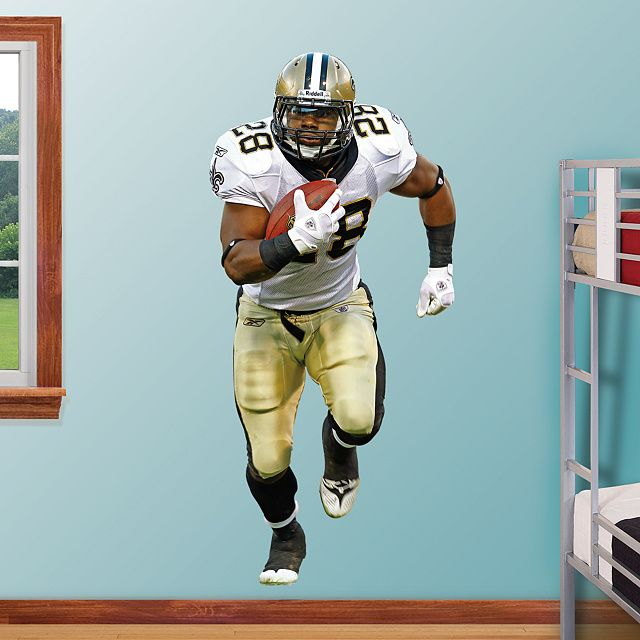 Fathead Wall Graphic | New Orleans Saints Wall Decal | & Mark Ingram REAL.BIG. Fathead Wall Graphic | New Orleans Saints Wall ...