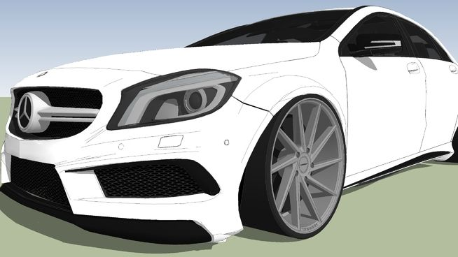 2014 Mercedes-Benz A45 ////AMG W176 Tuning - 3D Warehouse | 交通 in