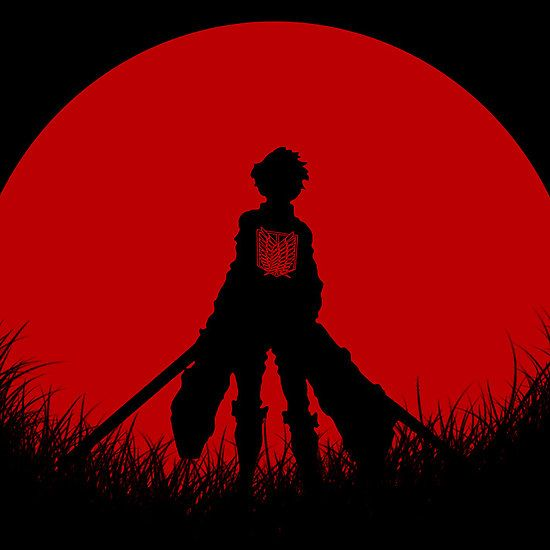 Red Moon Eren By Epyongart Red Aesthetic Grunge Red Anime Aesthetic Red Anime Anime wallpaper red moon