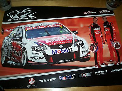 Australian #touring car poster #holden red #rooster team,  View more on the LINK: http://www.zeppy.io/product/gb/2/361529715698/
