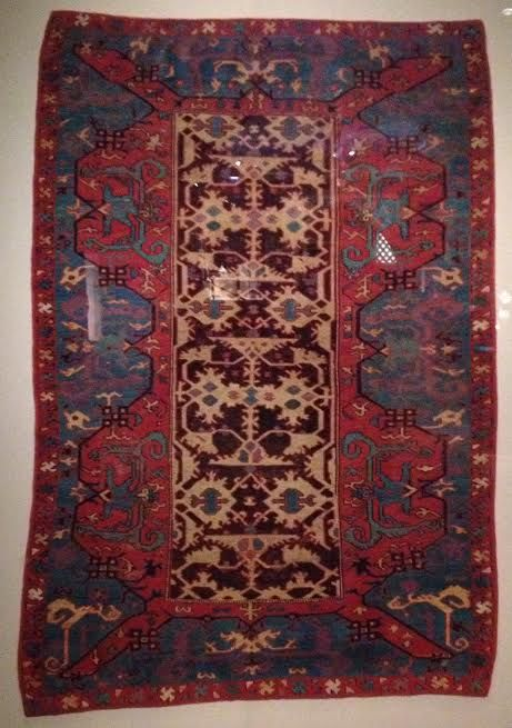 "16th c. West Anatolian ""Lotto"" Oushak rug - at The Art Institute Of Chicago"