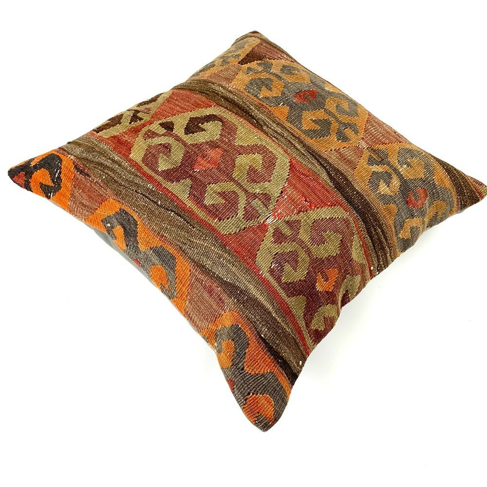 55x55 Cm Handgewebt Vintage Kelim Kissen Exquisite Kilim Cushion