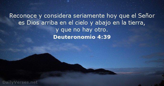 Versiculos De La Biblia De Animo: Deuteronomio 4:39