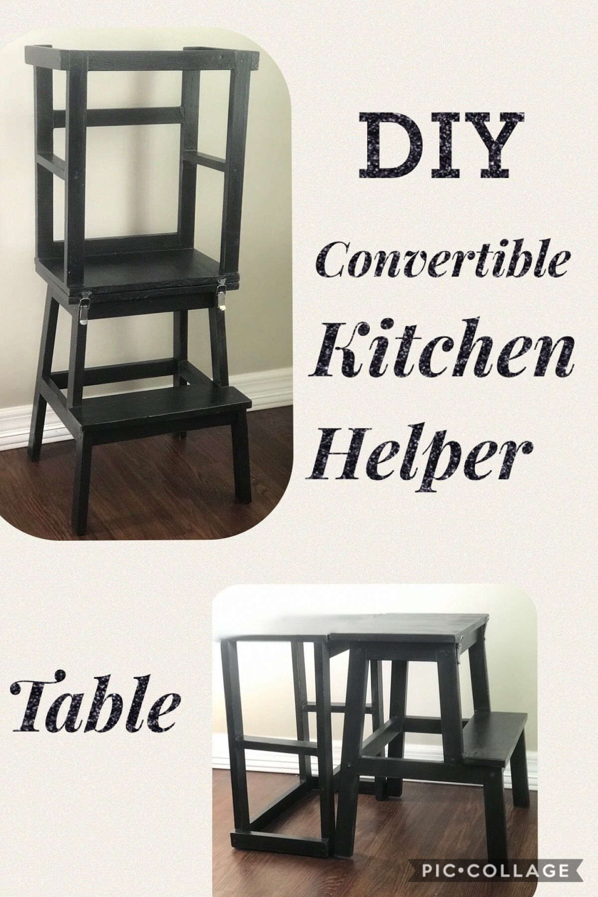 Step by step instructions for kitchen helper tower with