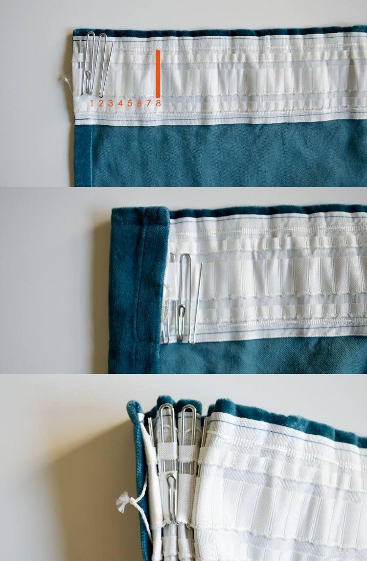 Gardinen Selber Nähen den richtigen platz der haken bestimmen und markieren gardinen und
