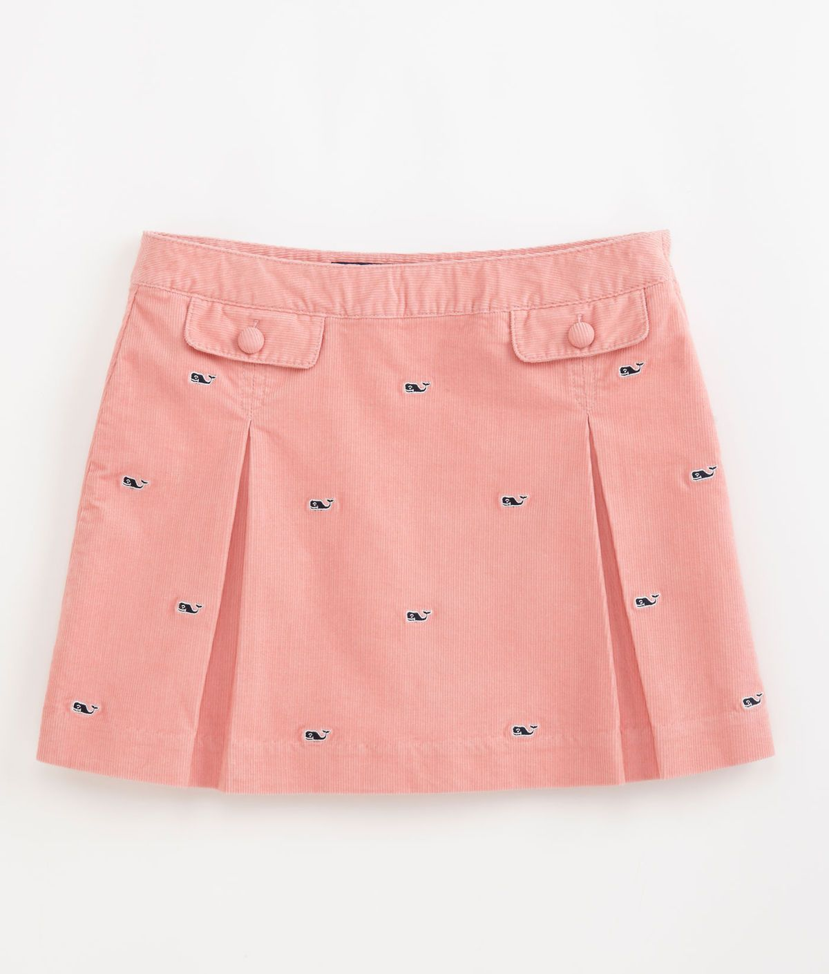 Vineyard Vines Embroidered Whale Cord Skirt Dresses Kids
