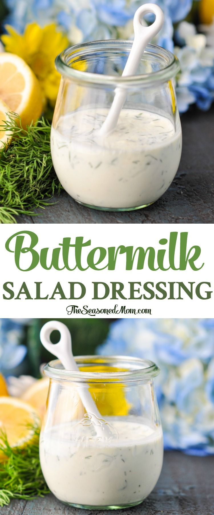 Buttermilk Dressing Recipe Buttermilk Salad Dressing Salad Dressing Recipes Recipes