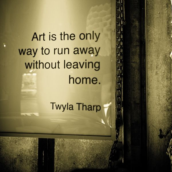 love Twyla Tharp - I'm not an artist but I like this!