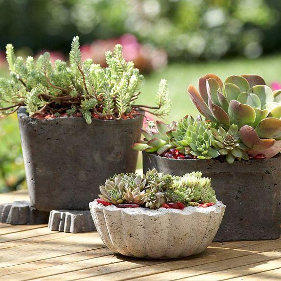 Originelle Gartengestaltung - Verwandeln Sie Beton in eine schöne - gartendeko selber machen beton