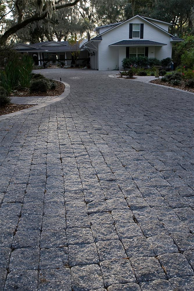 Driveways Hardscape Idea Gallery Cobblestone Patio Driveway