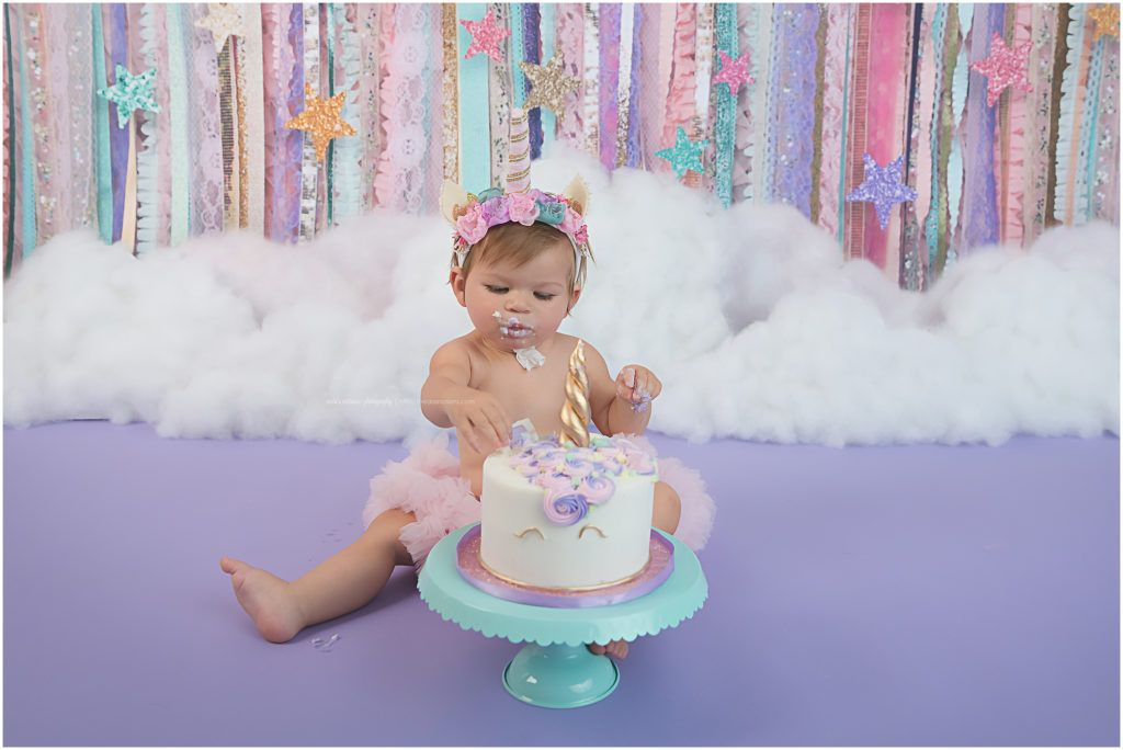 Unicorn Cake Smash Photoshoot For Babys First Birthday